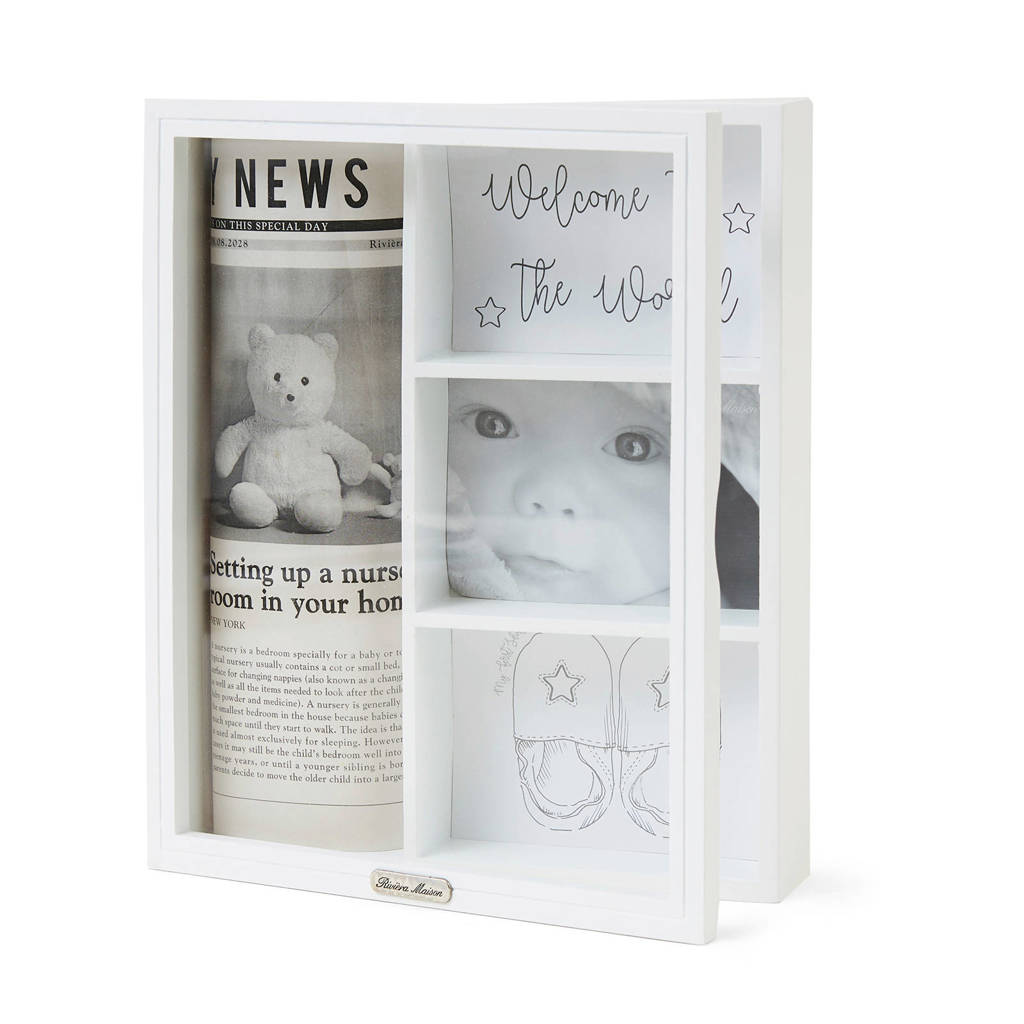 Riviera Maison wanddecoratie Welcome To The World, Wit