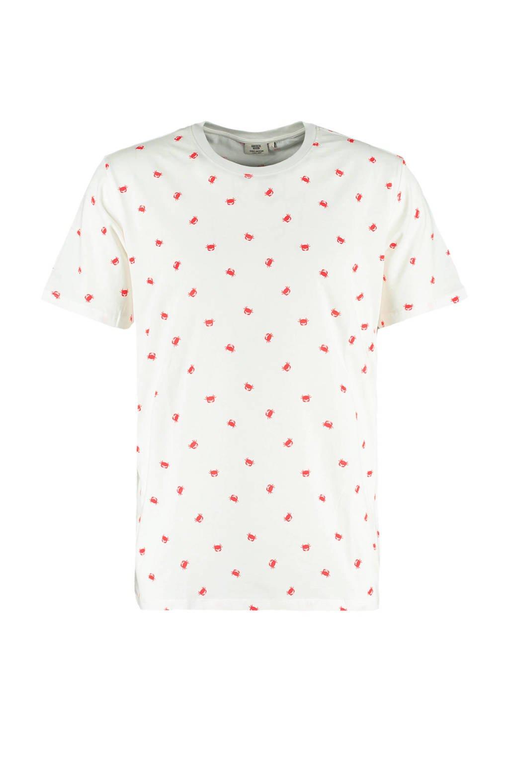 America Today T-shirt Erwin met all over print ecru, Ecru