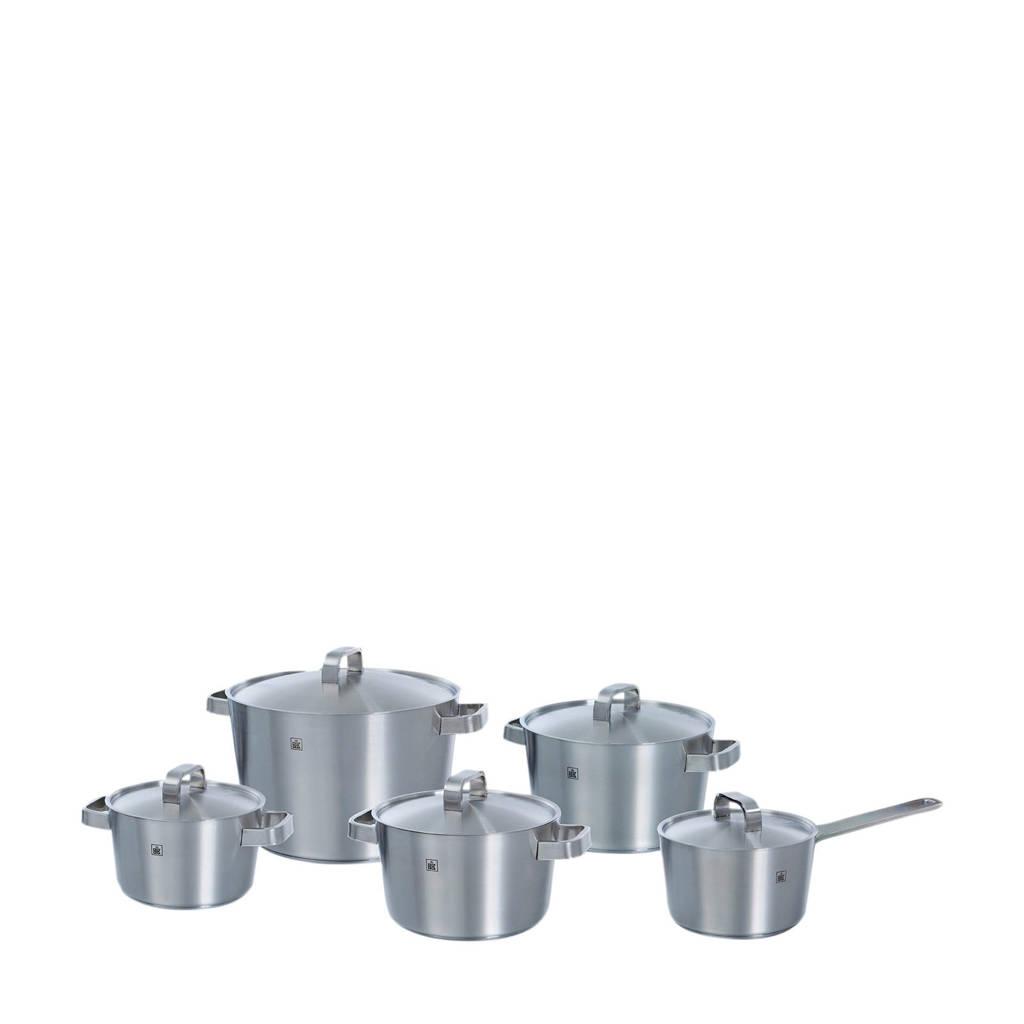 BK Conical+ pannenset (set van 5), Zilver
