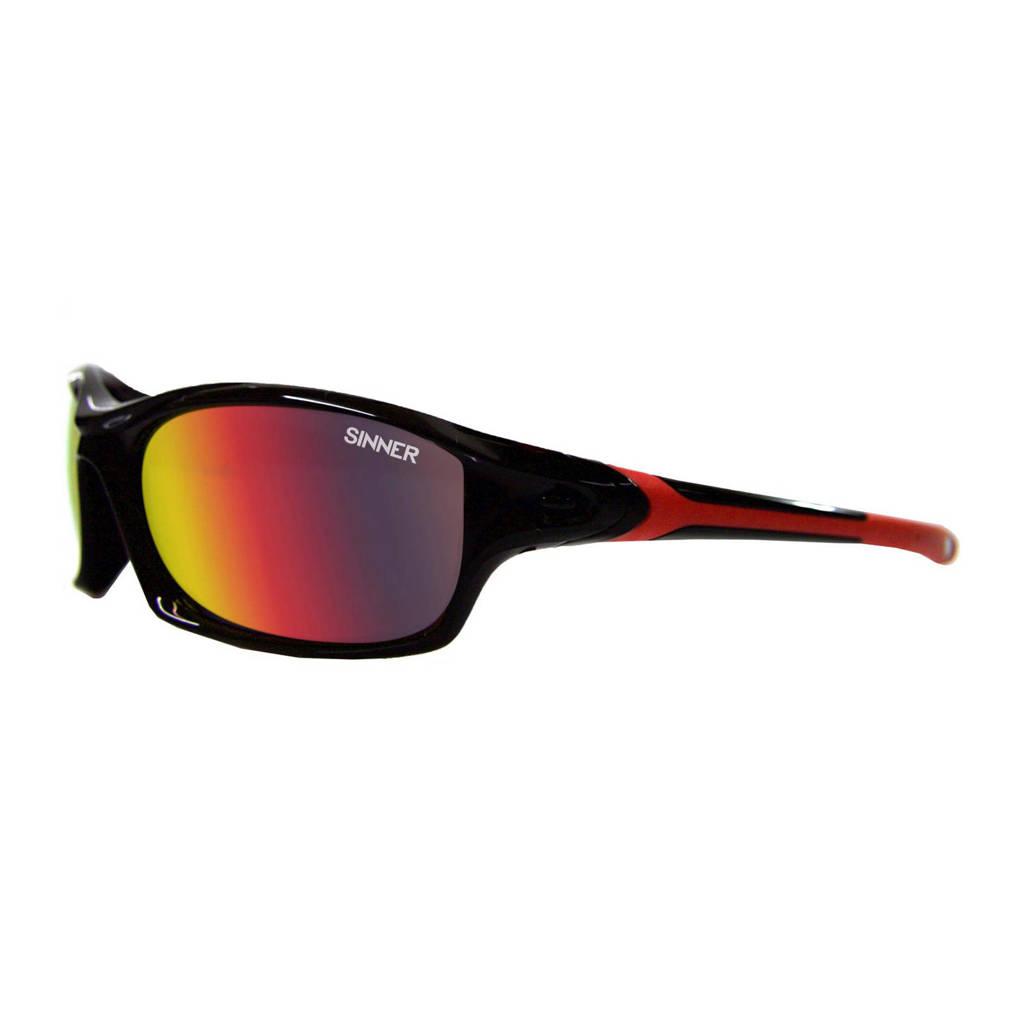 Sinner zonnebril EATON zwart/rood, Zwart/rood