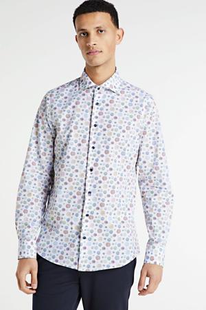 slim fit overhemd met all over print multi