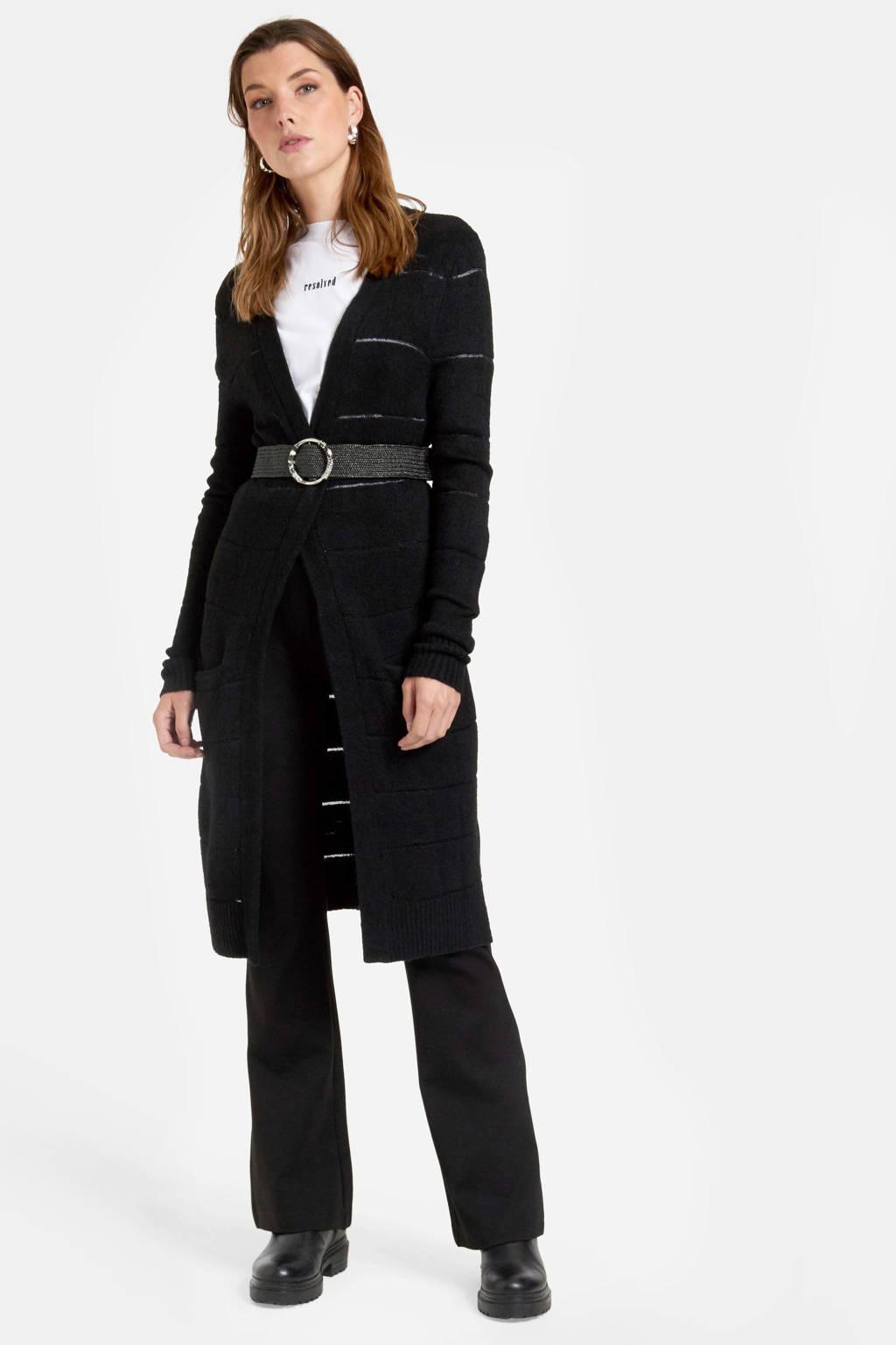 Eksept by Shoeby vest Saar met wol zwart, Zwart