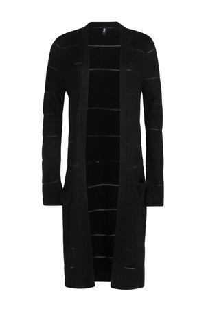 vest met wol zwart