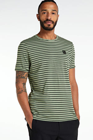 gestreept T-shirt groen