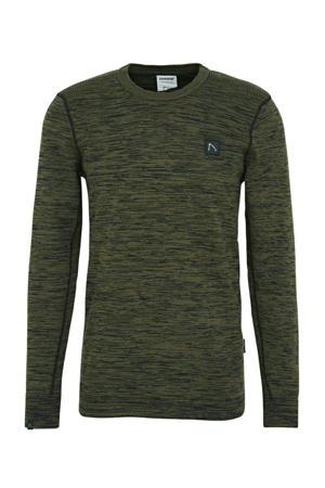 gemêleerde trui donkergroen/grijs