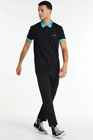 regular fit polo donkerblauw/turquoise