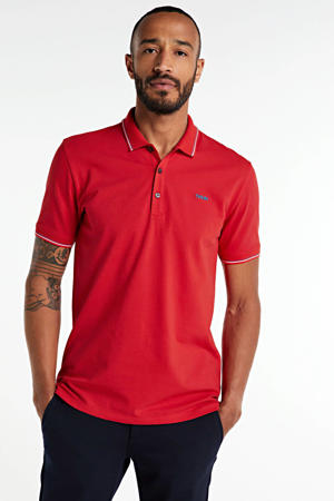 regular fit polo rood