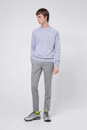gemêleerde trui met linnen lichtblauw