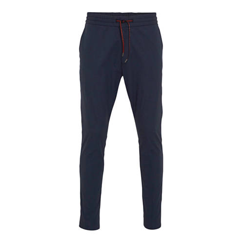 HUGO slim fit chino donkerblauw