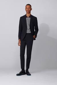 BOSS Menswear regular fit polo grijs/zwart, Grijs/zwart
