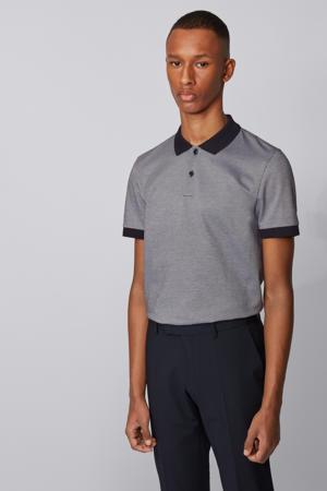 regular fit polo grijs/zwart