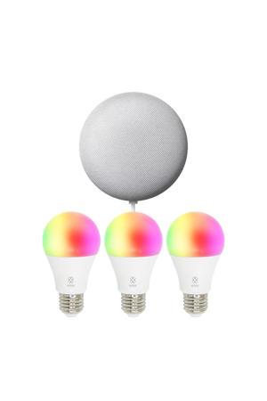 Smart Bulb R4553 E27 3-PACK + Nest Mini sfeerverlichting