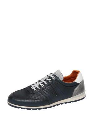 Anzano  leren sneakers donkerblauw