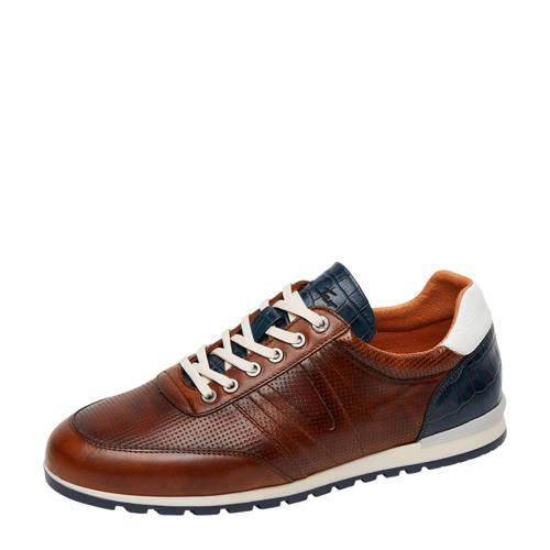 Van Lier Anzano leren sneakers cognac