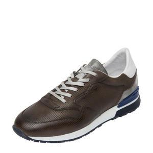 Chavar  leren sneakers grijs