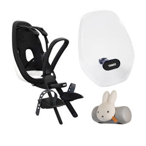 Yepp Nexxt fietsstoeltje (incl. nijntje slaaprol en windscherm), wit