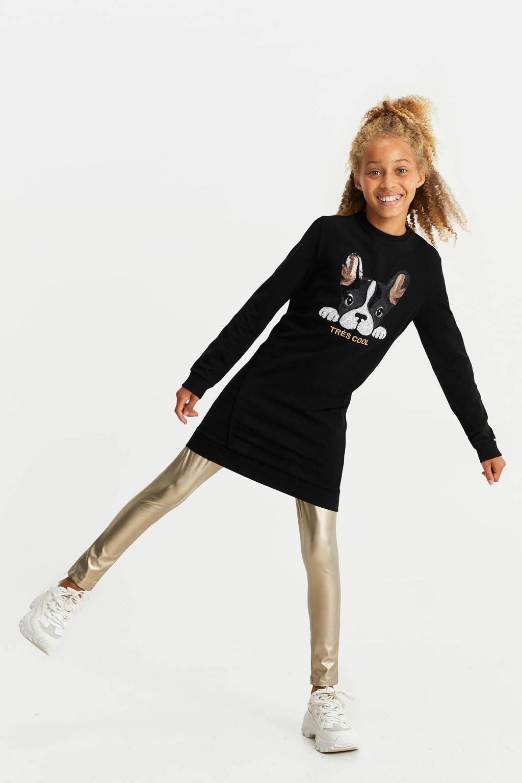 WE Fashion legging metallic goud, Metallic goud