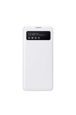 Galaxy A41 S View cover telefoonhoesje Wit)