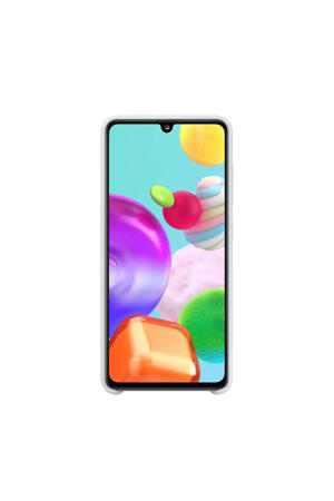 Silicone Cover Galaxy A41 (Wit)