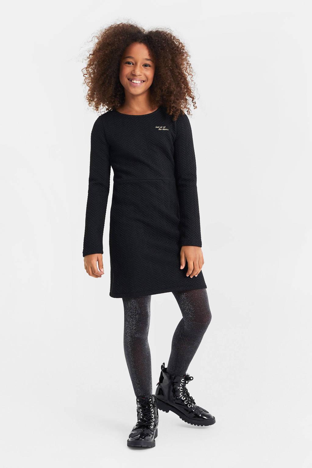 WE Fashion sweatjurk zwart, Zwart