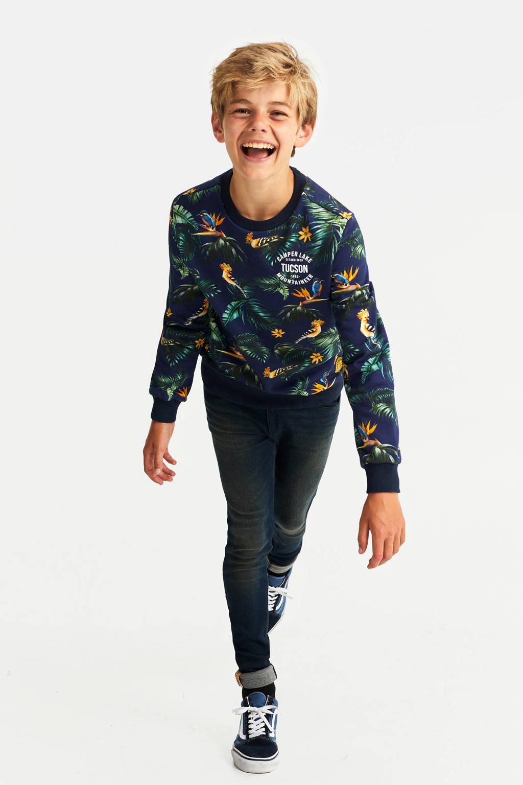 WE Fashion sweater met all over print multicolor, Multicolor