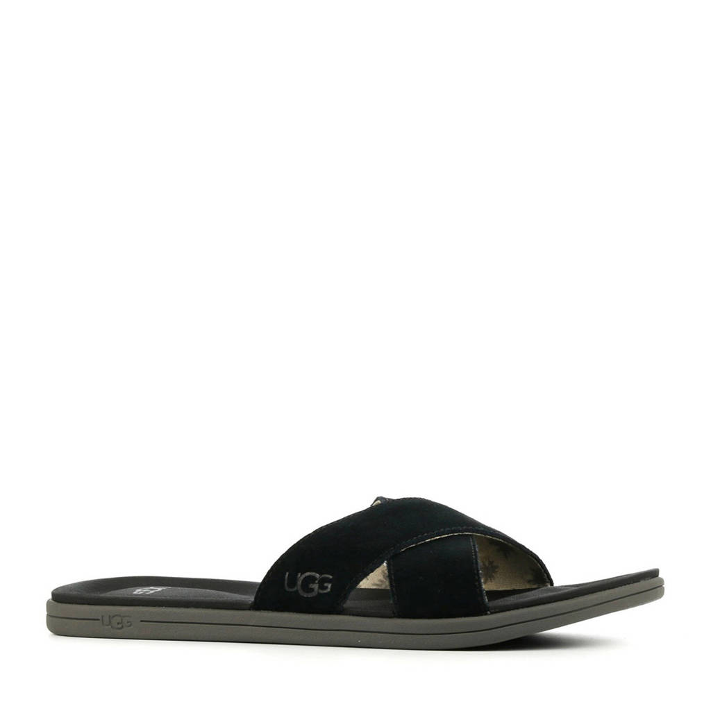 UGG Westport Slide  suède slippers zwart, Zwart