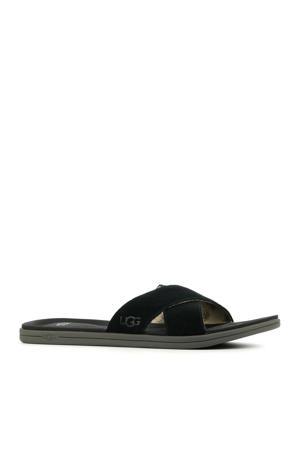 Westport Slide  suède slippers zwart