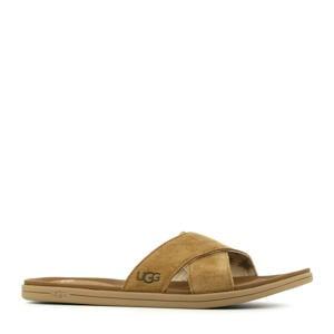 Westport Slide  suède slippers bruin