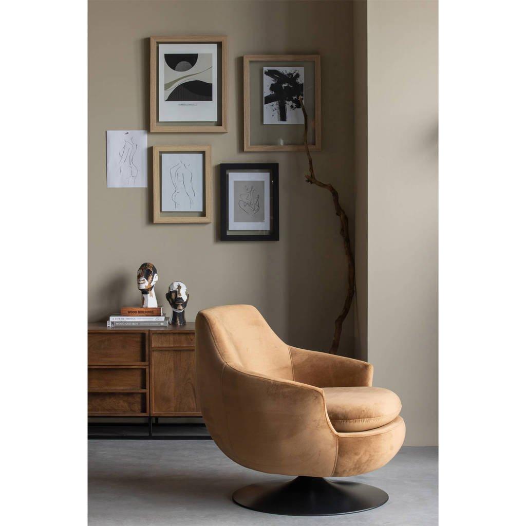WOOOD Exclusive fauteuil Jada, Bruin