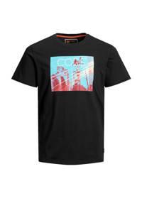 JACK & JONES CORE T-shirt met printopdruk zwart, Zwart