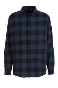 ONLY & SONS PLUS geruit regular fit overhemd donkerblauw/zwart, Donkerblauw/zwart