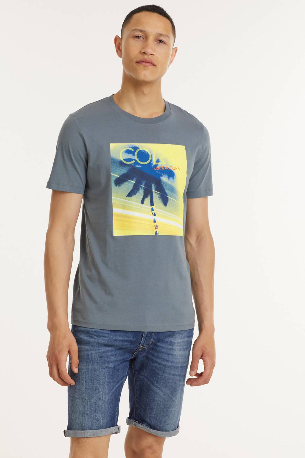 JACK & JONES CORE T-shirt met printopdruk grijsblauw, Grijsblauw