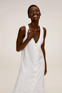 Mango maxi jurk met volant wit, Wit