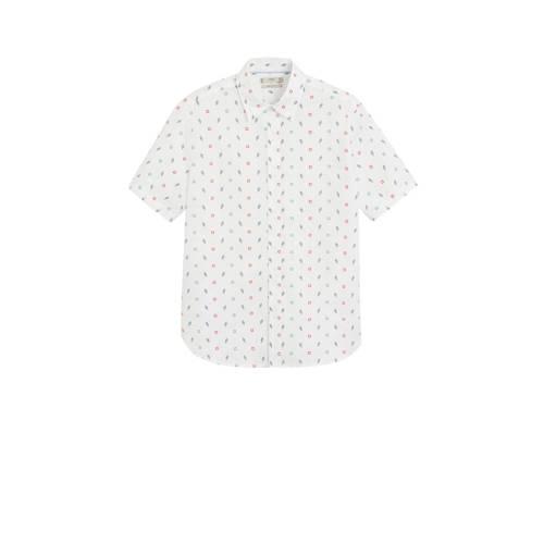 Mango Man regular fit overhemd met all over print