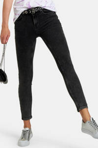 Eksept by Shoeby high waist skinny jeans Ametist L28 zwart, Zwart