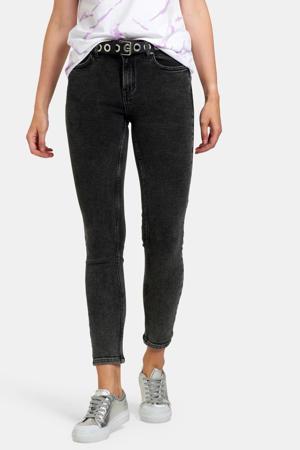 high waist skinny jeans Ametist zwart