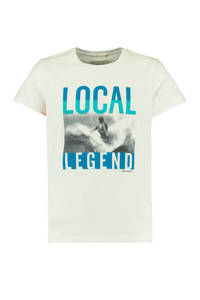 America Today Junior T-shirt Elmer met printopdruk ecru/blauw, Ecru/blauw