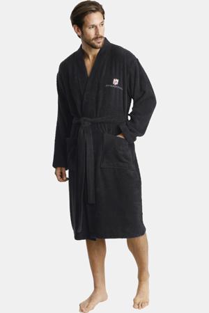 Plus Size badstof badjas Janning zwart