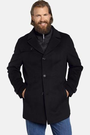 jas Plus Size Tjorve met wol zwart
