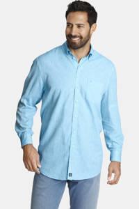 Jan Vanderstorm loose fit overhemd Plus Size Birk lichtblauw, Lichtblauw