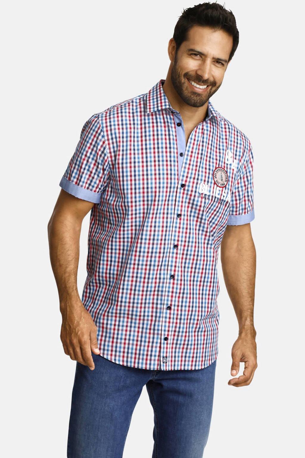 Jan Vanderstorm geruit loose fit overhemd Plus Size TORGEIR multi, Multi