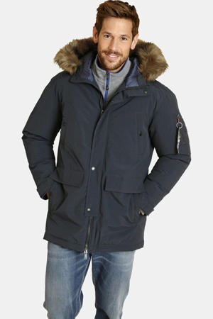 parka jas Plus Size KEVEN donkerblauw
