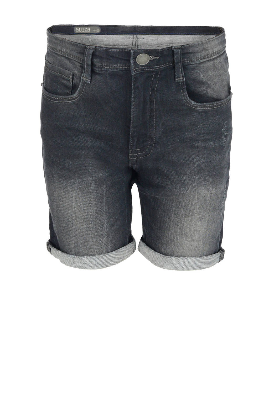 Shoeby Jill & Mitch jeans bermuda Jay grijs stonewashed, Grijs stonewashed