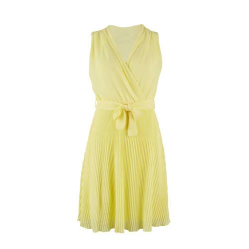 LOLALIZA jurk met ceintuur geel