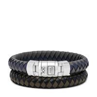 Buddha To Buddha armband BTB010MIX donkerblauw/zwart, Donkerblauw/zwart