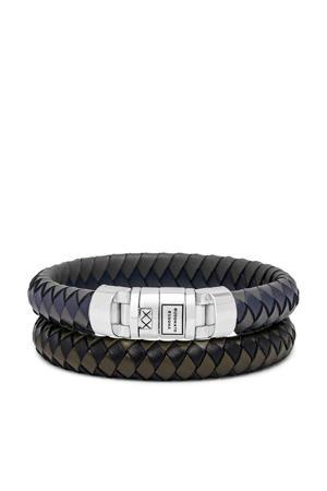 armband BTB010MIX donkerblauw/zwart