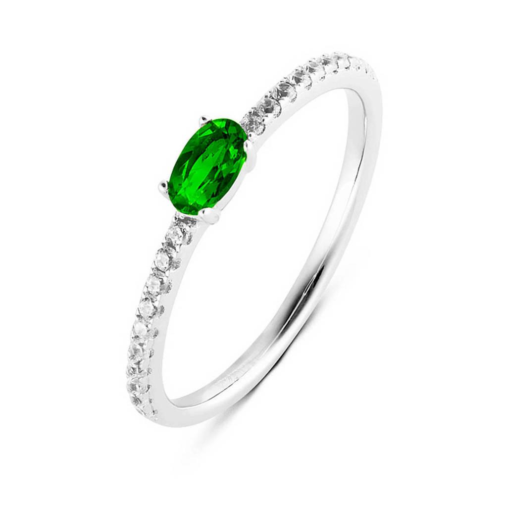 Parte di Me ring PDM133028 zilver/groen, Zilver/groen