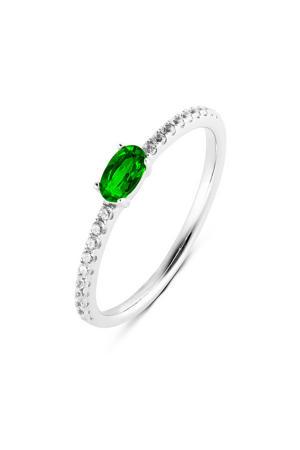ring PDM133028 zilver/groen