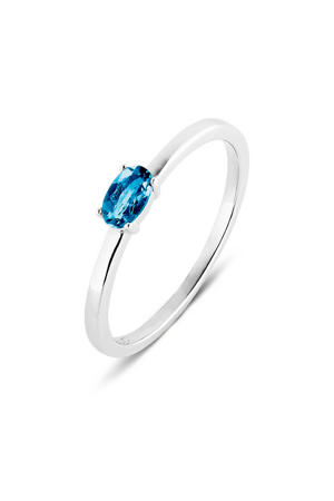 ring PDM133030 zilver/blauw
