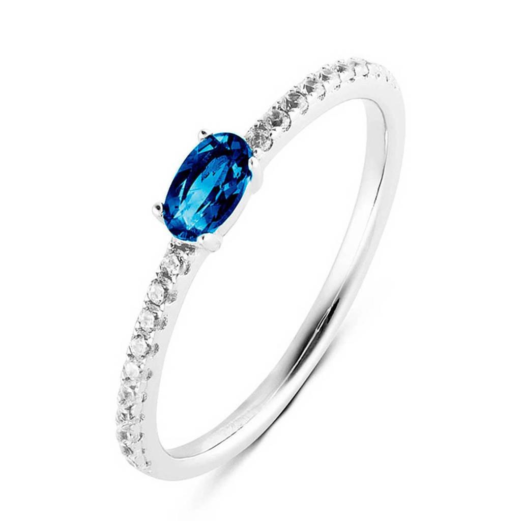 Parte di Me ring PDM1133027 zilver/blauw, Zilver/blauw